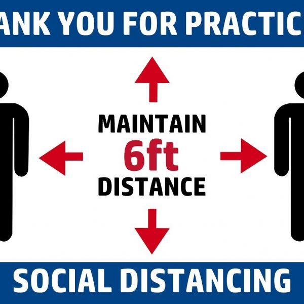 maintain 6ft distance